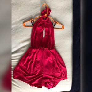 Hot pink bebe jumper